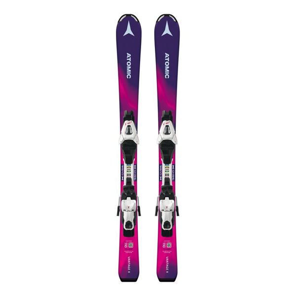 Image sur SKIS ALPINS ATOMIC VANTAGE GIRL X MAUVE/ROSE 2019 POUR JUNIOR (AVEC FIXATIONS)