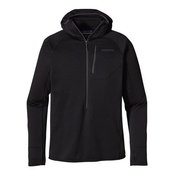 Picture of PATAGONIA ALPINE SKI SWEATER R1 FLEECE HOODY BLACK FOR MEN