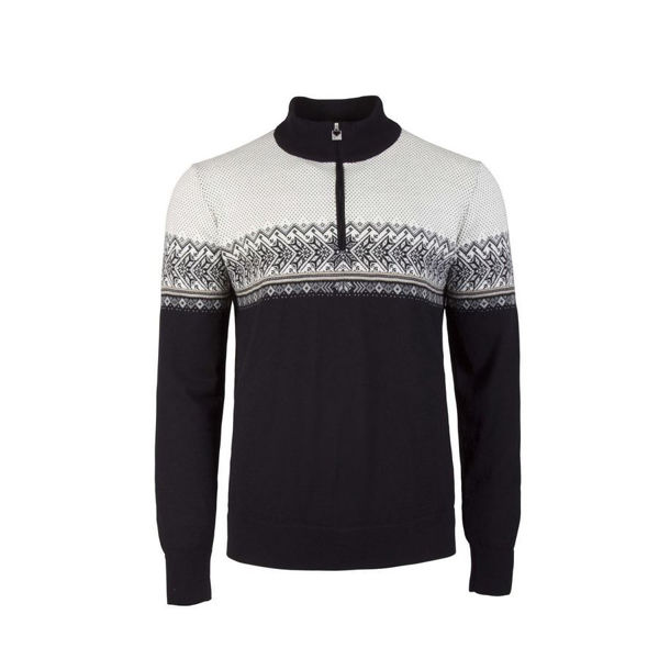 Picture of DALE OF NORWAY ALPINE SKI SWEATER HOVDEN BLACK/WHITE FOR MEN