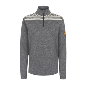 Picture of DALE OF NORWAY ALPINE SKI SWEATER CORTINA BASIC MASC SWEATER SMOKE OFFWHITE FOR MEN
