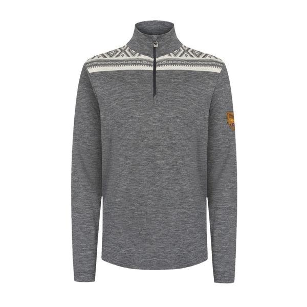 Image sur CHANDAIL DE SKI ALPIN DALE OF NORWAY CORTINA BASIC MASC SWEATER SMOKE OFFWHITE POUR HOMME