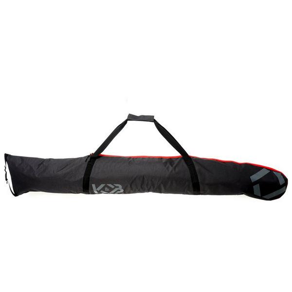 Picture of K&B ALPINE SKI BAG HALF PADDED ADJUSTABLE BLACK/RED