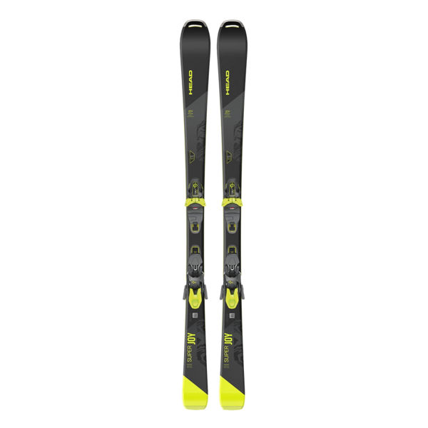 Picture of HEAD ALPINE SKIS SUPER JOY 11 BLACK/YELLOW 2021 FOR WOMEN (WITH BINDINGS)