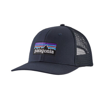 Picture of PATAGONIA CAP P-6 LOGO TRUCKER NAVY BLUE