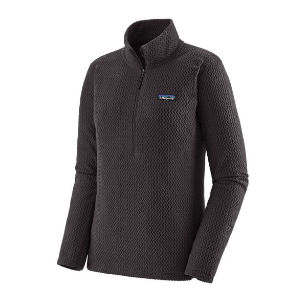 Picture of PATAGONIA ALPINE SKI SWEATERS R1 AIR ZIP NECK BLACK FOR WOMEN