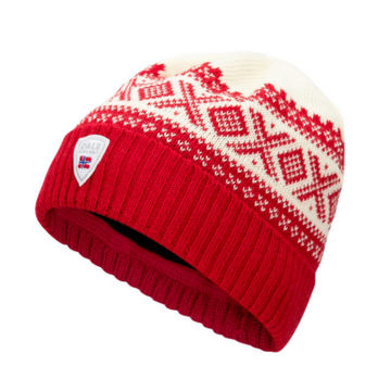 Image de TUQUE DALE OF NORWAY CORTINA HERON RASPBERRY OFFWHITE