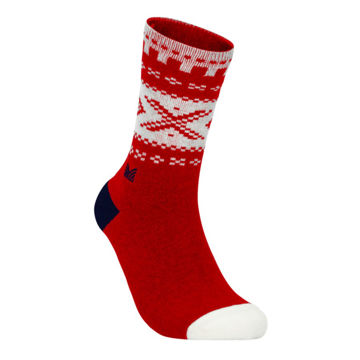 Picture of DALE OF NORWAY SOCKS CORTINA CREW CUT RASPBERRY OFFWHITE NAVY