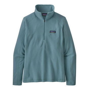 Picture of PATAGONIA ALPINE SKI SWEATERS MICRO D 1/4 ZIP UPWELL BLUE FOR WOMEN