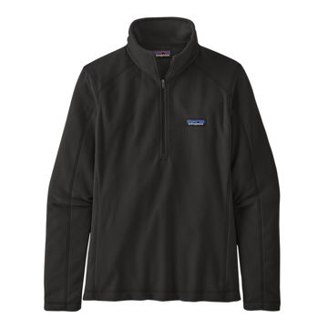 Picture of PATAGONIA ALPINE SKI SWEATERS MICRO D 1/4 ZIP BLACK FOR WOMEN