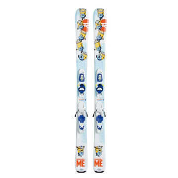 Picture of ROSSIGNOL ALPINE SKIS MINION KID + KID-X 4 WHITE 2017 FOR JUNIORS (WITH BINDINGS)