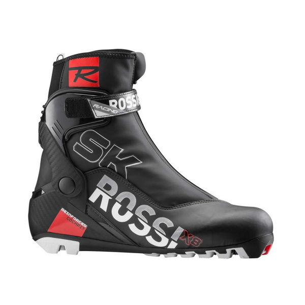 Picture of ROSSIGNOL CROSS COUNTRY SKI BOOTS X-8 SKATE BLACK/RED