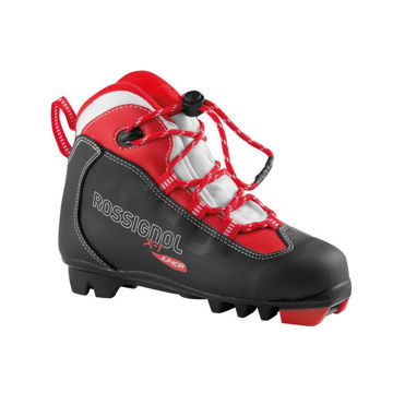 Picture of ROSSIGNOL CROSS COUNTRY SKI BOOTS X-1 JR BLACK/RED FOR JUNIORS