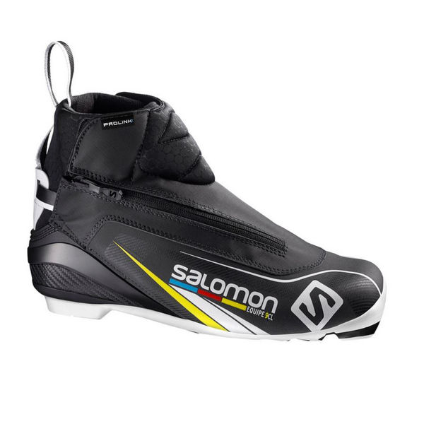 Picture of SALOMON CROSS COUNTRY SKI BOOTS EQUIPE 9 CLASSIC PROLINK BLACK