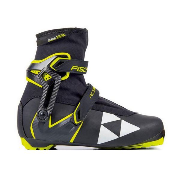 Picture of FISCHER CROSS COUNTRY SKI BOOTS RCS SKATE BLACK/YELLOW