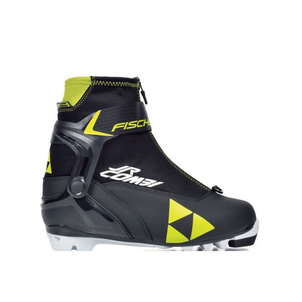 Picture of FISCHER CROSS COUNTRY SKI BOOTS JR COMBI BLACK/YELLOW FOR JUNIORS