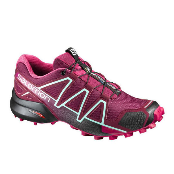 Picture of SALOMON TRAIL RUNNING SHOES SPEEDCROSS 4 W RED/VIOLET FOR WOMEN