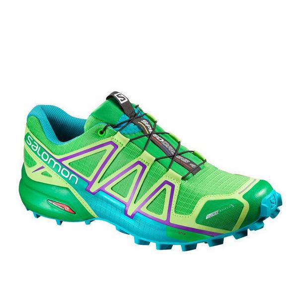 Picture of SALOMON TRAIL RUNNING SHOES SPEEDCROSS 4 CS PEPPERMINT/BLUE FOR WOMEN