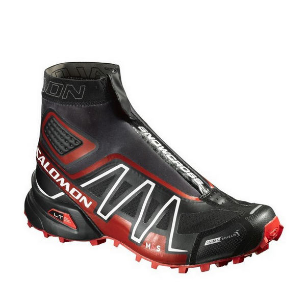 Picture of SALOMON TRAIL RUNNING SHOES SNOWCROSS CS BLACK/RED FOR MEN