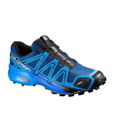 Picture of SALOMON TRAIL RUNNING SHOES SPEEDCROSS 4 CS BLUE/BLACK FOR MEN