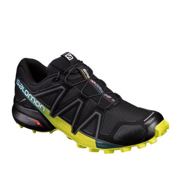 Picture of SALOMON TRAIL RUNNING SHOES SPEEDCROSS 4 BLACK/YELLOW FOR MEN