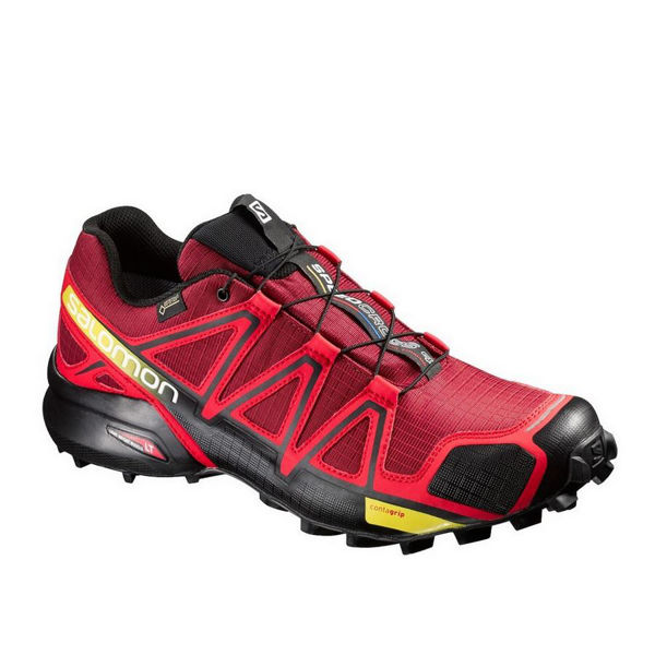 Picture of SALOMON TRAIL RUNNING SHOES SPEEDCROSS 4 GTX RED FOR MEN