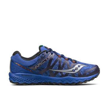 Picture of SAUCONY ROAD RUNNING SHOES PEREGRINE 7 ICE + BLUE FOR MEN