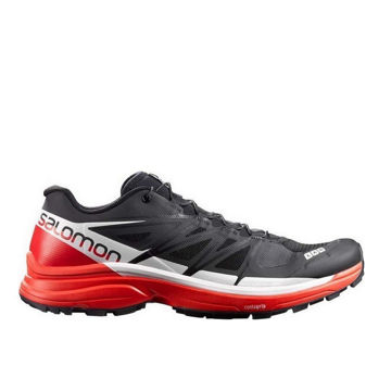 Picture of SALOMON ROAD RUNNING SHOES S-LAB WINGS 8 SG BLACK/RED/WHITE FOR MEN