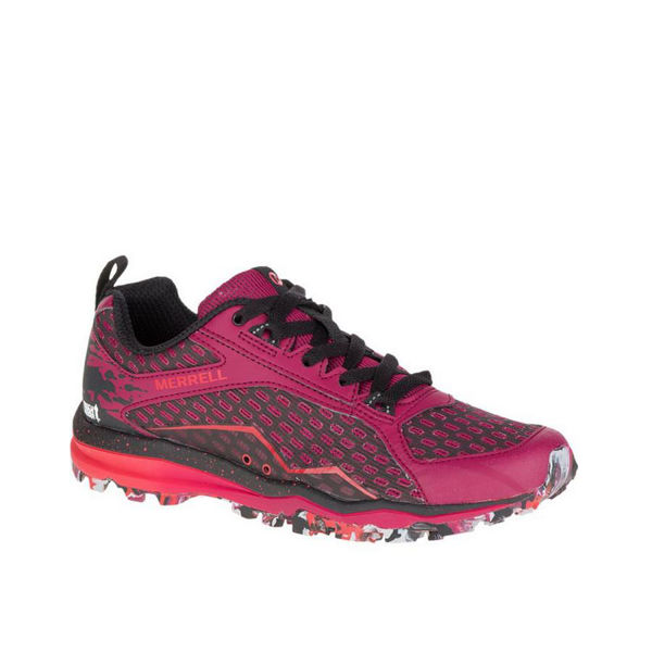 Picture of MERREL TRAIL RUNNING SHOES ALL OUT CRUSH TOUGH RED FOR WOMEN