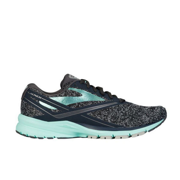 Picture of BROOKS ROAD RUNNING SHOES LAUNCH 4 GREY/TURQUOISE FOR WOMEN