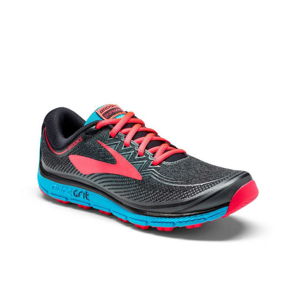 Picture of BROOKS TRAIL RUNNING SHOES PURE GRIT 6 BLACK/PINK FOR WOMEN