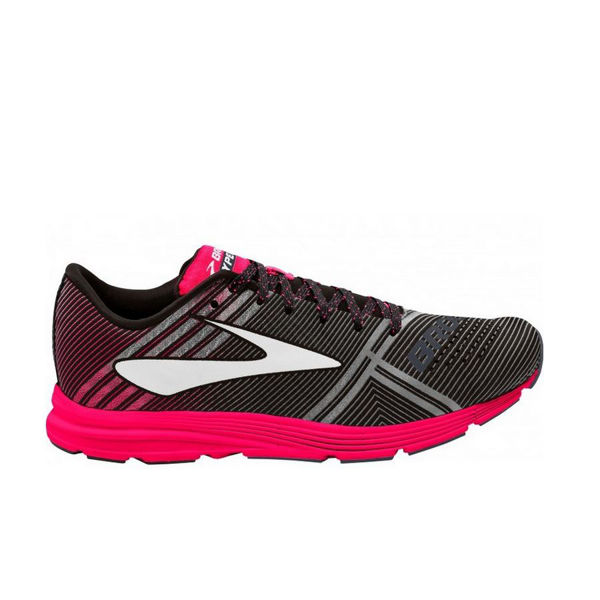 Picture of BROOKS ROAD RUNNING SHOES HYPERION BLACK/PINK FOR WOMEN