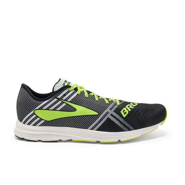 Picture of BROOKS ROAD RUNNING SHOES HYPERION BLACK/WHITE/YELLOW FOR MEN