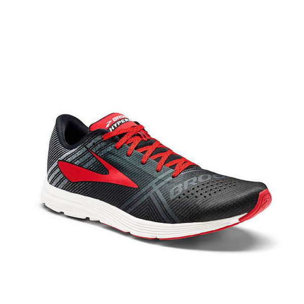 Picture of BROOKS ROAD RUNNING SHOES HYPERION BLACK/RED FOR MEN