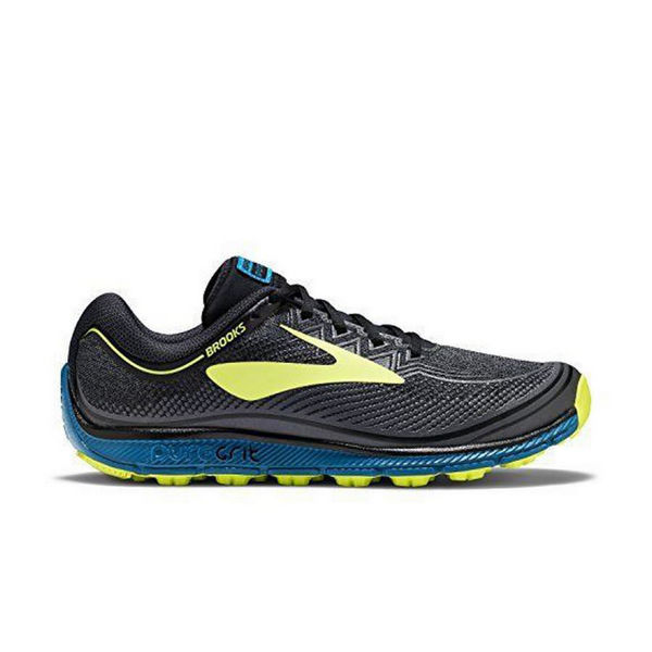 Picture of BROOKS TRAIL RUNNING SHOES PURE GRIT 6 BLACK/YELLOW FOR MEN