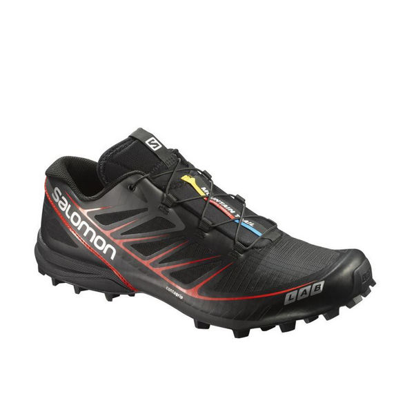 Picture of SALOMON TRAIL RUNNING SHOES S/LAB SPEED BLACK/RED FOR MEN