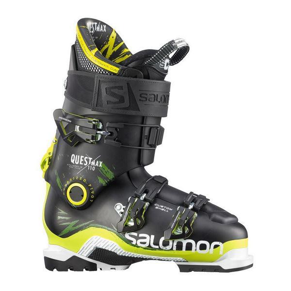 Picture of SALOMON APLINE SKI BOOTS QUEST MAX 110 BLACK/GREEN FOR MEN