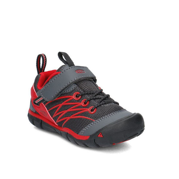 Picture of KEEN ROAD RUNNING SHOES CHANDLER CNX GREY/RED FOR JUNIORS