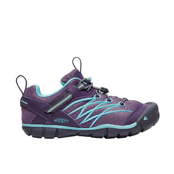 Picture of KEEN ROAD RUNNING SHOES CHANDLER CNX GRAPE/AQUA FOR JUNIORS