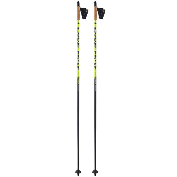 Picture of ONEWAY CROSS COUNTRY SKI POLES DIAMOND CROSS 40 BLACK/YELLOW