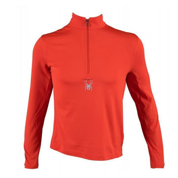 Picture of SPYDER ALPINE SKI SWEATER SILVER DIP DRY W.E.B RED FOR MEN