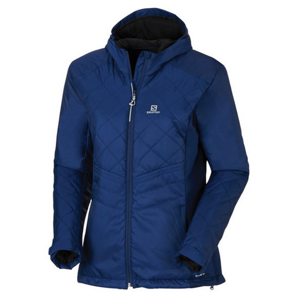 Picture of SALOMON CROSS COUNTRY SKI JACKET NOVA HOODIE BLUE FOR WOMEN