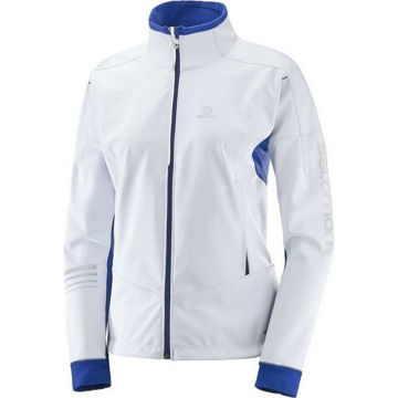 Picture of SALOMON CROSS COUNTRY SKI JACKET LIGHTNING WARM SOFTSHELL WHITE FOR WOMEN