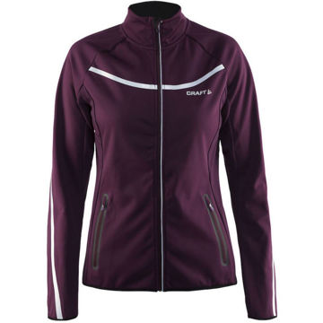 Image de MANTEAU DE SKI DE FOND CRAFT INTENSITY SOFTSHELL VIOLET POUR FEMME
