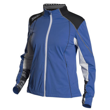 Picture of SWIX CROSS COUNTRY SKI JACKET LISMARK TECH BLUE FOR WOMEN
