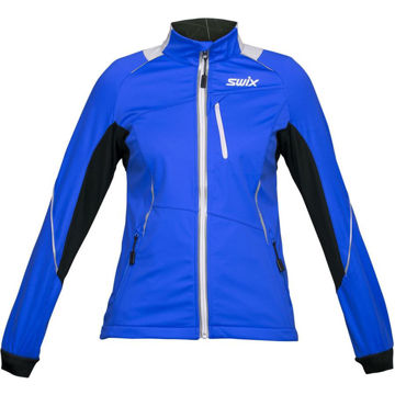 Picture of SALOMON CROSS COUNTRY SKI JACKET DELDA LIGHT SOFTSHELL BLUE FOR WOMEN