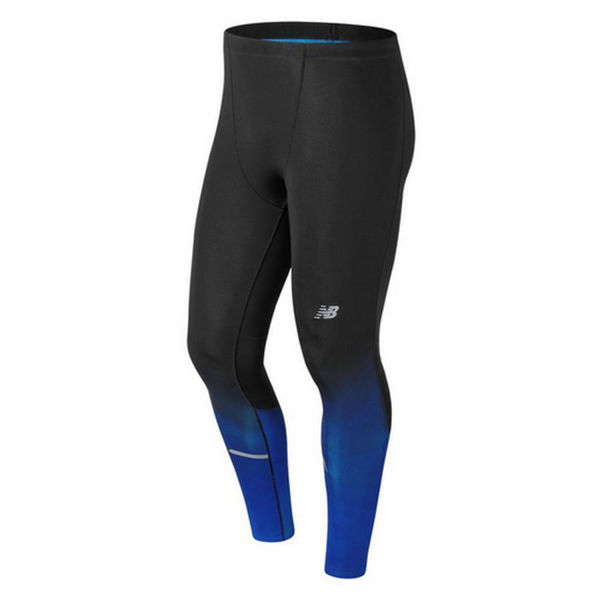Picture of NEW BALANCE LEGGING IMPACT TIGHT BLACK/BLUE FOR MEN