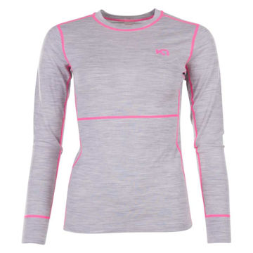 Picture of KARI TRAA ALPINE SKI SWEATERS ULLA LS GREY/PINK FOR WOMEN