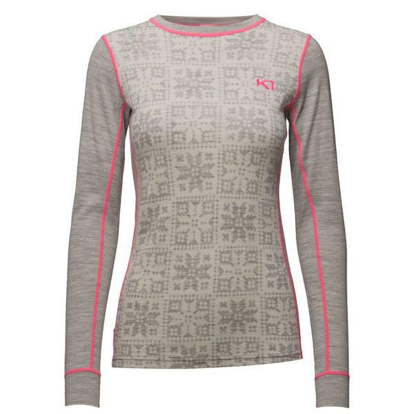 Picture of KARI TRAA ALPINE SKI SWEATERS VRANG GREY/PINK FOR WOMEN