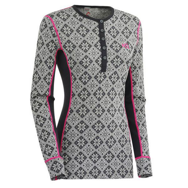 Picture of KARI TRAA ALPINE SKI SWEATERS ROSE LS EBONY FOR WOMEN