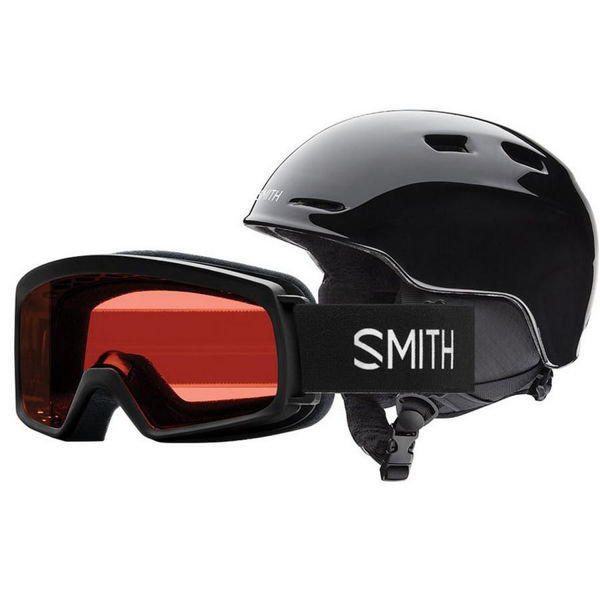 Picture of SMITH ALPINE SKI HELMET COMBO GOGGLE ZOOM/RASCAL BLACK FOR JUNIORS